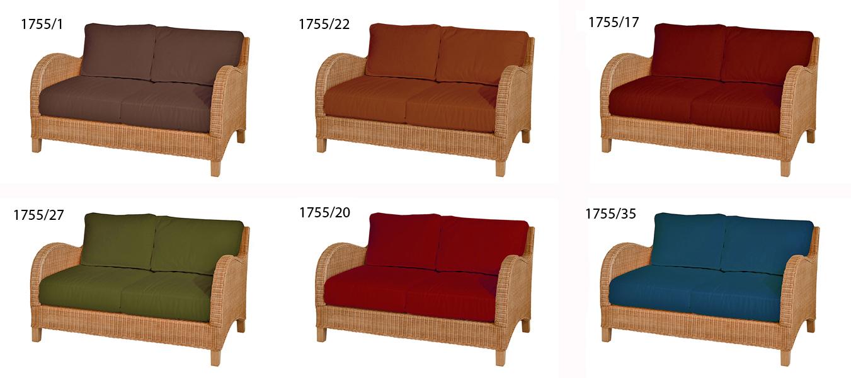 Divano 2 posti bay giunchino tessuto ecr mobili - Divano color prugna ...