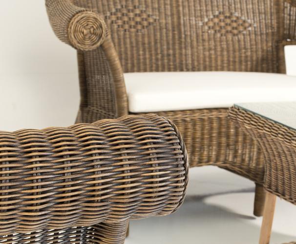 Mobili In Midollino Rattan.Complete Set Bambu Wicker Ecru Fabric Mobili In Rattan