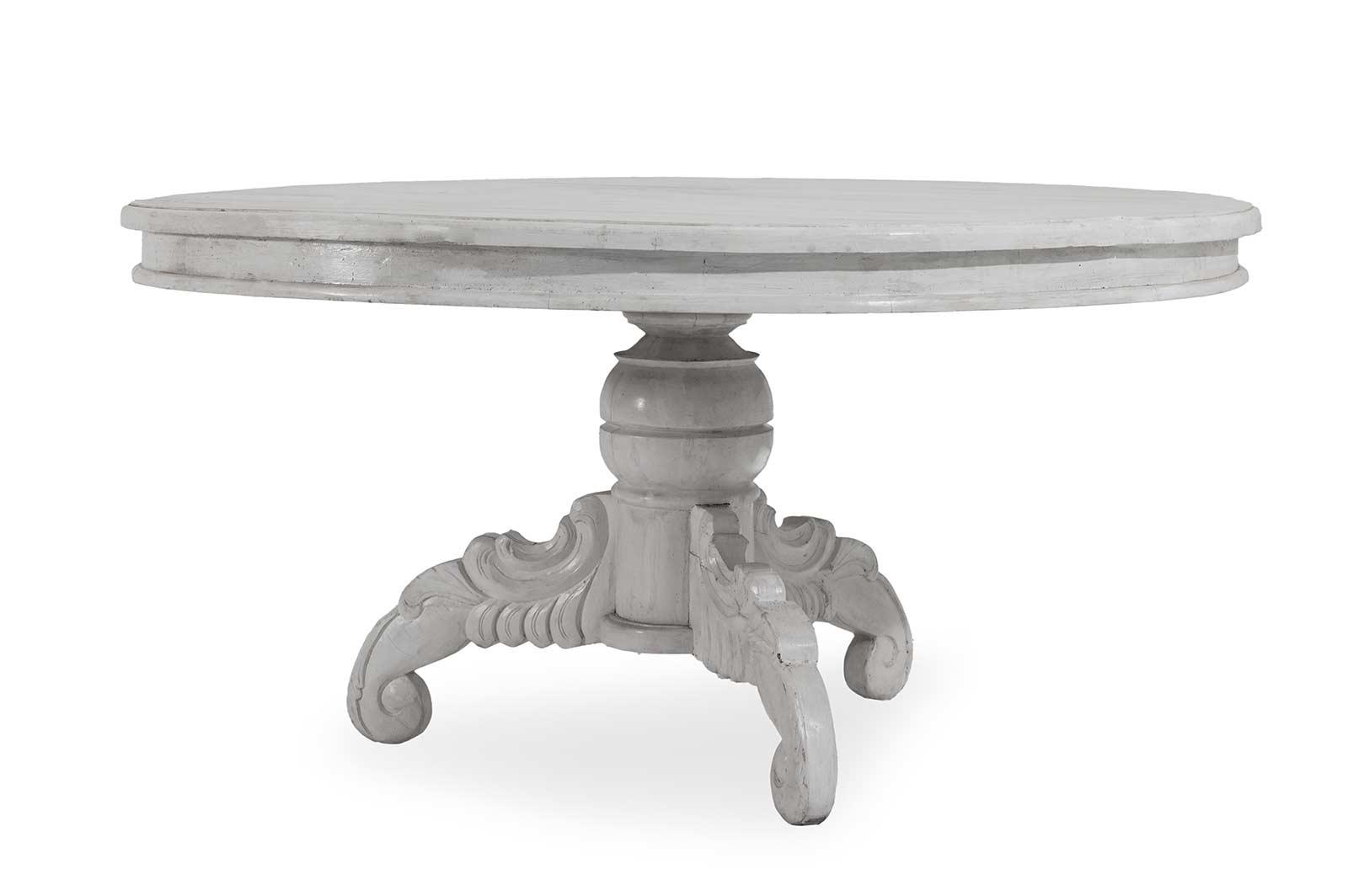Tavolo rotondo bianco da giardino tavolo tondo od ovale sedit