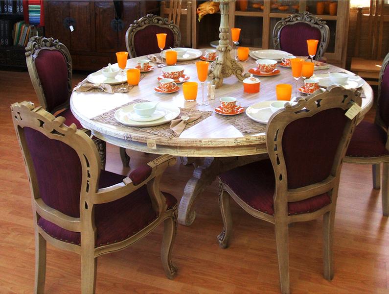 Tavolo tondo akab bianco mobili in rattan for Tavolo tondo bianco