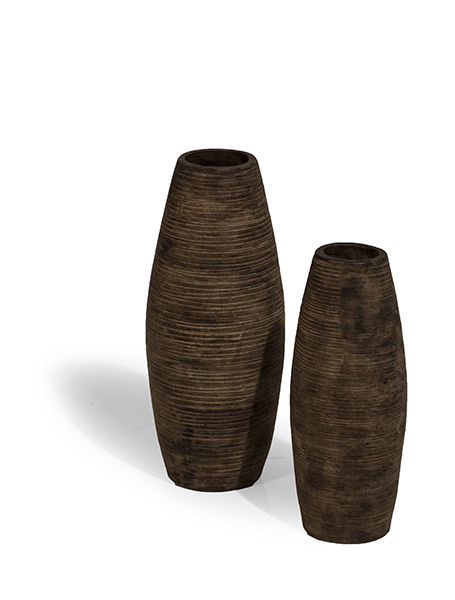 Vasi In Rattan Prezzi.Set 2 Pezzi Vasi Stripes Mobili In Rattan Produzione E Vendita